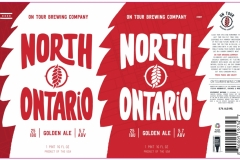 On Tour Brewing Company - North Ontario Golden Ale