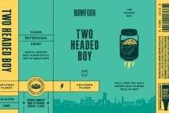 Burnt City Brewing - Two Headed Boy Unfiltered Pilsner