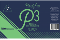 Phase Three Brewing Company - P3 Helles