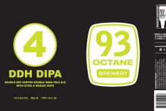 93 Octane Brewery - Double Dry Hopped Double India Pale Ale With Citra And Mosaic Hops