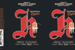 Midwest Coast Brewing Company - Holstein Helles Lager