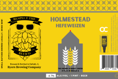 Byers Brewing Company - Holmestead Hefeweizen