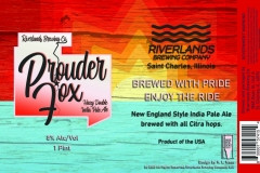 Riverlands Brewing Co - Prouder Fox