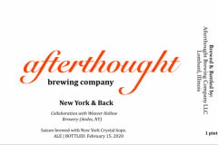 Afterthought Brewing Company - New York & Back
