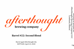 Afterthought Brewing Company - Barrel #22: Second Blend
