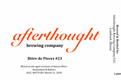 Afterthought Brewing Company - Biere De Pieces #23