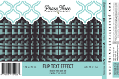 Phase Three Brewing Company - Flip Text Effect