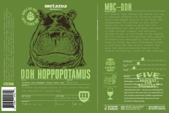 Metazoa Brewing Co. - Ddh Hoppopotamus With Strata Hops