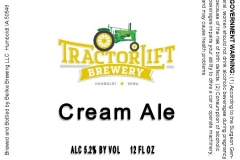 Tractorlift Brewery - Cream Ale