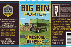 Limestone Brewers - Big Bin Porter