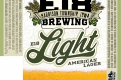 E18 Brewing Company - E18 Light American Lager