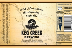 Keg Creek Brewing Company - Old Marathon Barleywine Style Ale