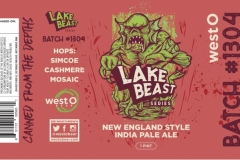 West O Beer - Lake Beast Series Batch #1304