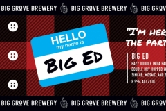 Big Grove Brewery And Tap Room - Big Ed