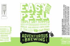 Adventurous Brewing - Easy Peel Triple Dry Hopped