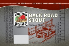 Millstream Brewing Co - Back Road Stout
