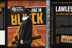 Lansing Brewing Company - Joe In Black Ale
