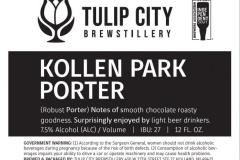 Tulip City Brewstillery - Kollen Park Porter