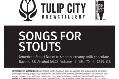 Tulip City Brewstillery - Songs For Stouts