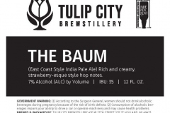 Tulip City Brewstillery - The Baum