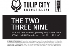Tulip City Brewstillery - The Two Three Nine