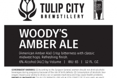 Tulip City Brewstillery - Woody's Amber Ale