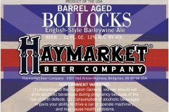 Haymarket Beer Company - Barrel Aged Bollocks
