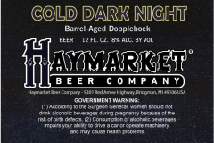 Haymarket Beer Company - Cold Dark Night