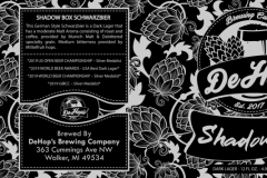 Dehop's Shadow Box - Shadow Box Schwarzbier