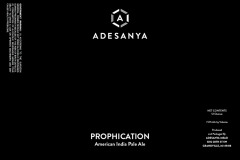 Adesanya Mead, Resident Brewer - Prophication