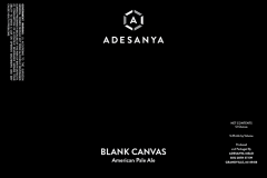 Adesanya Mead, Resident Brewer - Blank Canvas