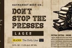 Haymarket Beer Company - Don't Stop The Presses