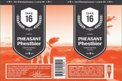 Take 16 Brewing Company - Pheasant Phestbier Festival Lager Beer