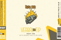 Verbal Tip - Verbal Tip Hazy Ipa With Mosaic And Citra Hops