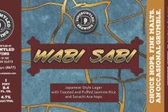 Disgruntled Brewing - Wabi-sabi - Japanese Style Lager
