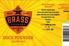 Brass Foundry Brewing - Dock Pounder Golden Ale