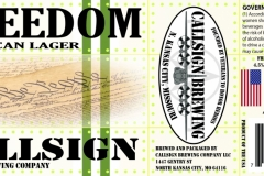 Callsign Brewing Company - Freedom American Lager