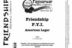 Friendship Brewing Company - F.y.i.