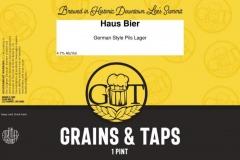 Grains & Taps - Haus Bier