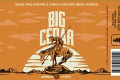 Great Escape Beer Works - Big Cedar Amber Lager