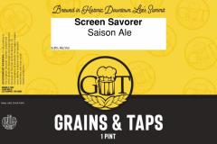 Grains & Taps - Screen Savorer