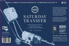 Masthead Brewing Co. - Saturday Transfer