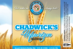 Hoppy Dude Brews - Chadwick's Hefeweizen Style Ale