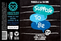 The Brewing Projekt - Things Of That Nature: Suppose To Be
