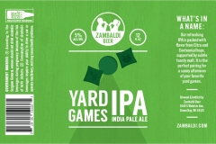 Zambaldi Beer - Yard Games Ipa