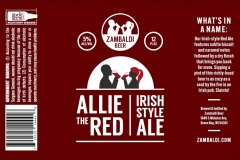 Zambaldi Beer - Allie The Red Irish Style Ale