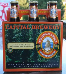 The six pack of Capital Brewery Wisconsin Amber that Chris picked up.  Thanks!