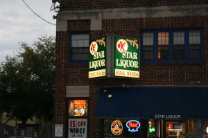 Star Liquor beer store in Madison, WI.  Cozy place with good staff and a good selection of beer.