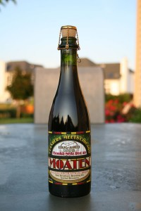 Two Brothers Brewing Co. Moaten in caloboration with Urthel Brewry.  An oak aged sour Flemish style red ale.
