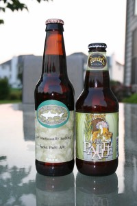 Two IPAs picked up this Wednesday: 60 Minute IPA from Dogfish Head and Dry Hopped Pale Ale from Founders Brewing Co.